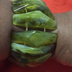 Ladies Green Bracelet